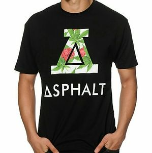 Asphalt - Royal Kush Roman A Graphic Black T-Shirt